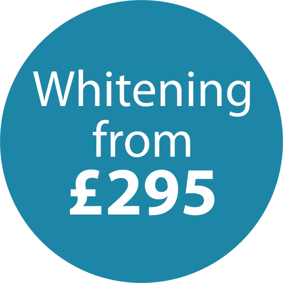 Icon for Tooth Whitening prices starting at £295.
